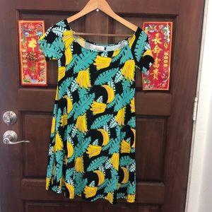 Ava Sky Hawaii mini dress w/banana print
